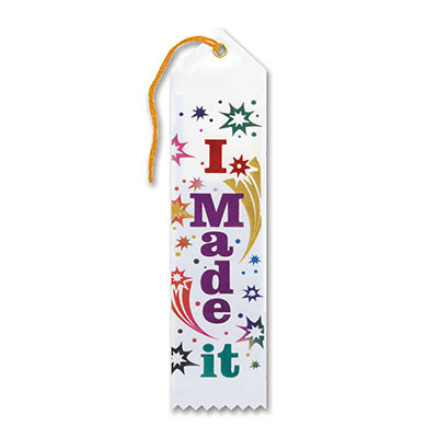 I Made It Award Ribbon 2 x 8in