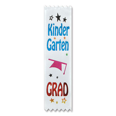 Kindergarten Grad Value Pack Ribbons 1 x 6