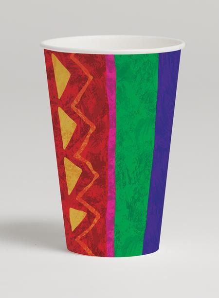 Festive Fiesta 12 Oz Cups