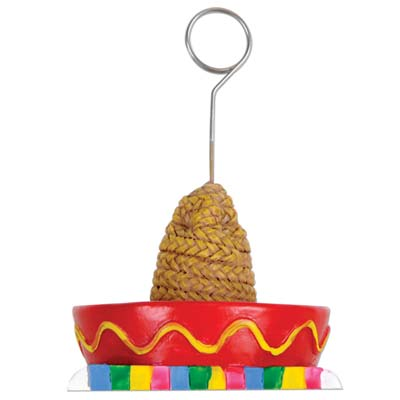 Sombrero with Serape Photo Balloon Holder 6 Oz
