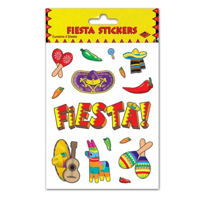 Fiesta Stickers 4.75 x 7.5in