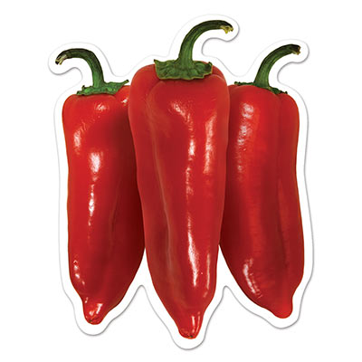 Mini Chili Pepper Cutouts 4.5in 10ct