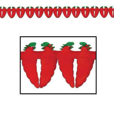 Chili Pepper Garland 5 Inch x 12 Foot