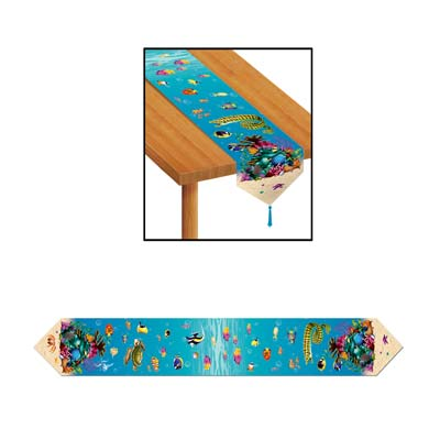Printed Under The Sea Table Runner 11in x 6ft