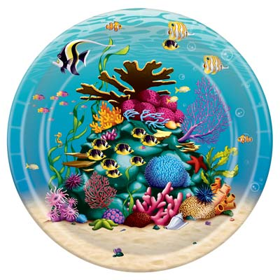 Under The Sea Plates 9in