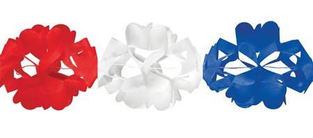 Red White & Blue Tissue Garland
