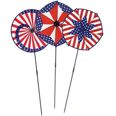 Patriotic Wind Wheel 15in x 3ft