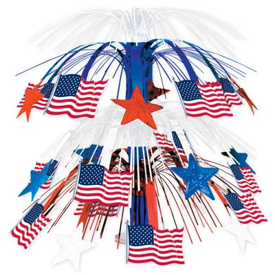 Flag Cascade Centerpiece 18in