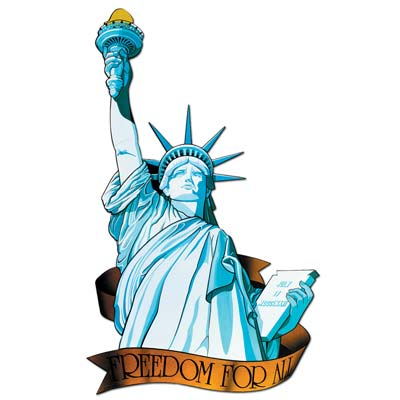 Miss Liberty Cutout 33in