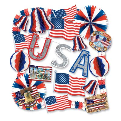 Patriotic Decorating Kit - 22pc
