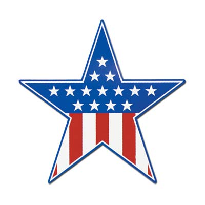 Patriotic Star Cutout 15in