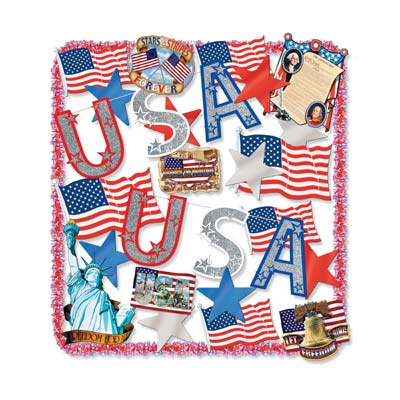Patriotic Trimorama Decorating Kit - 25ct