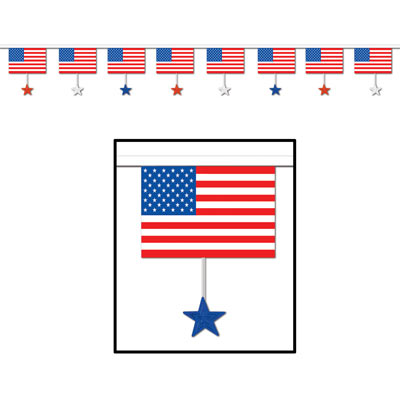 Flags & Stars Banner 16in x 12ft
