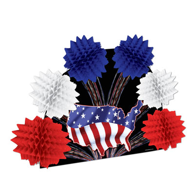 Patriotic Pop-Over Centerpiece 10in