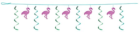 Flamingos 12' Dizzy Dangler Garland