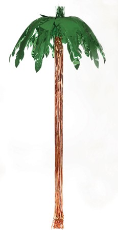 Green 9' Metallic Palm Tree Dcor