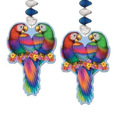 Tropical Bird Danglers 30in 2ct