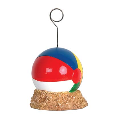 Beach Ball Photo Balloon Holder 6 Oz