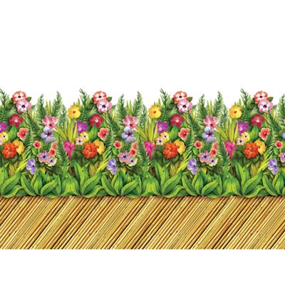 Tropical Flower & Bamboo Walkway Border 24in x 30ft