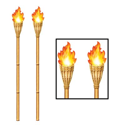 Tiki Torch Wall Cling 4' 2 x 6