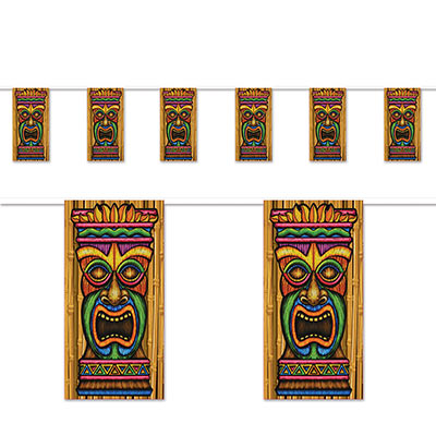 Tiki Pennant Banner 10 in x 12 ft