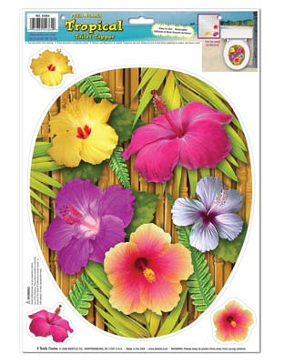 Tropical Toilet Topper Peel 'N Place 12 x 17in Sheet