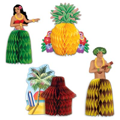 Luau Playmates 5.5in 4ct
