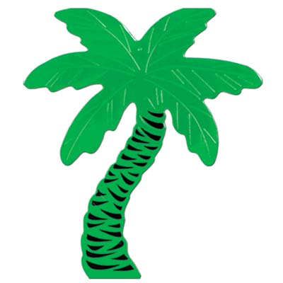Foil Palm Tree Silhouette 16