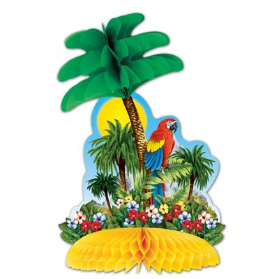 Tropical Island Centerpiece 12in