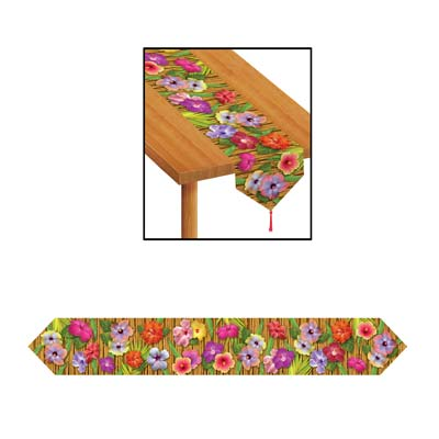 Printed Luau Table Runner 11in x 6ft