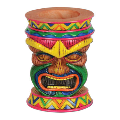 Tiki Tea Light Holder 6 Oz