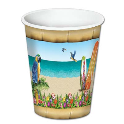 Paradise Beverage Cups 8 Oz