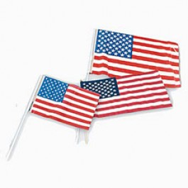USA Flags - Plastic 12in x 18in - 12ct