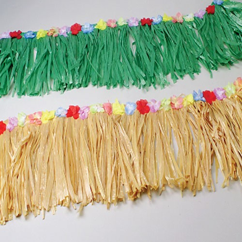 Green Table Skirt Fringe Decoration