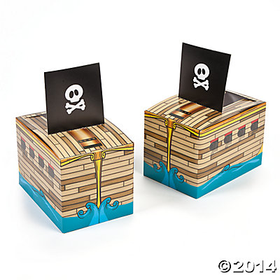 Paper Pirate Ship Favor Boxes
