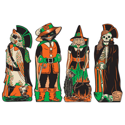 Vintage Halloween Fanci-Dress Cutouts 17 Inches