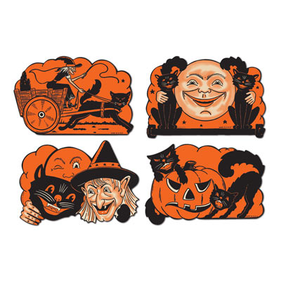 Vintage Halloween Cutouts 9 Inches