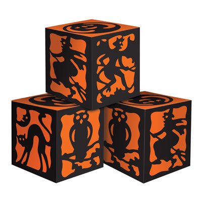 Vintage Halloween Favor Boxes 3.25 x 3.25in