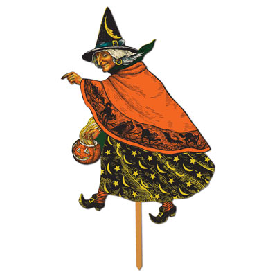 Classic Witch Yard Sign 19x12in