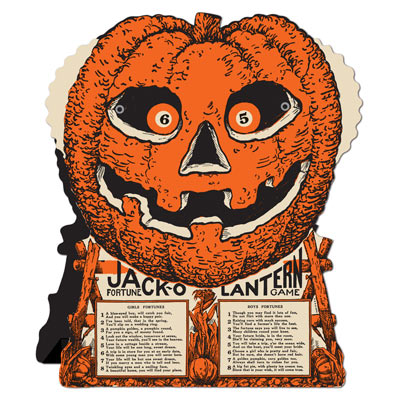 Jack O' Lantern Fortune Wheel Game 9 x 7.5in