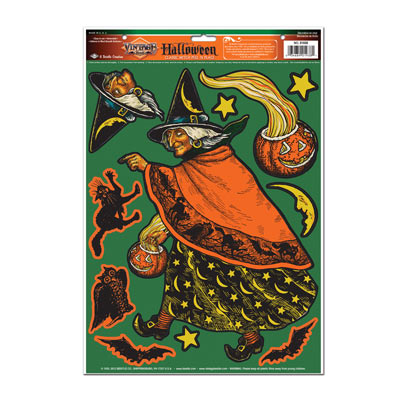 Classic Witch Clings 12x17in