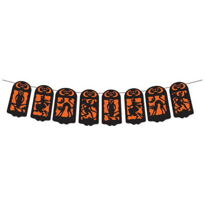 Vintage Halloween String Banner 7 in x 12 ft
