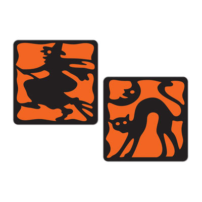 Vintage Halloween Coasters 3.5in