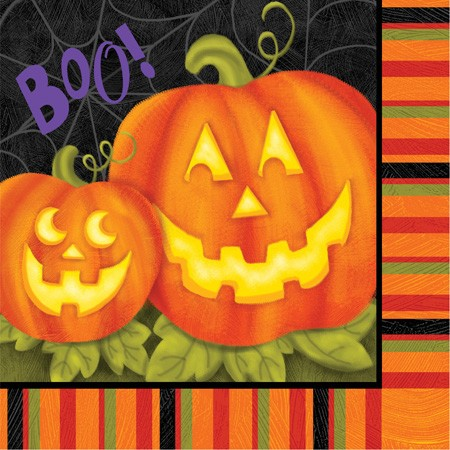 Jolly Jack O Lanterns 2-Ply Lunch Napkins