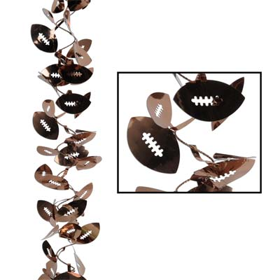 Gleam 'N Flex Football Garland 25ft