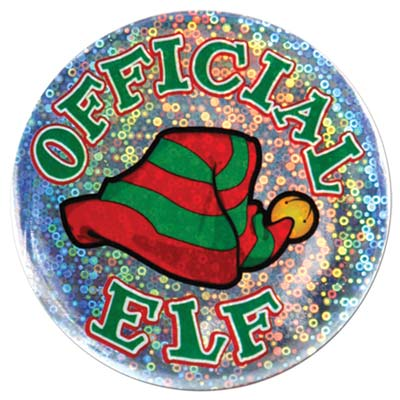 Official Elf Button 3.5in