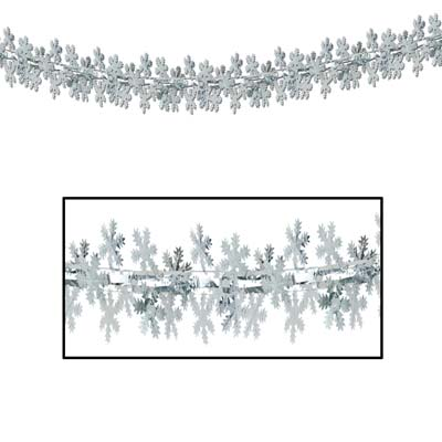 Snowflake GarlandColumn 12in x 9ft