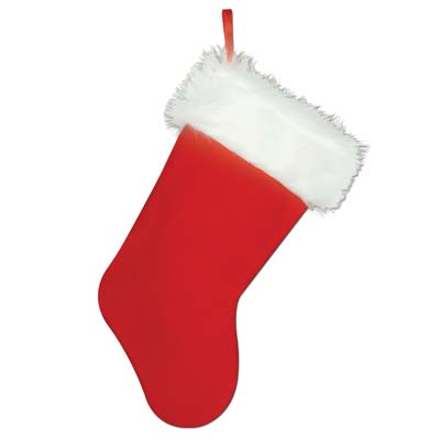Plush Christmas Stocking 15in