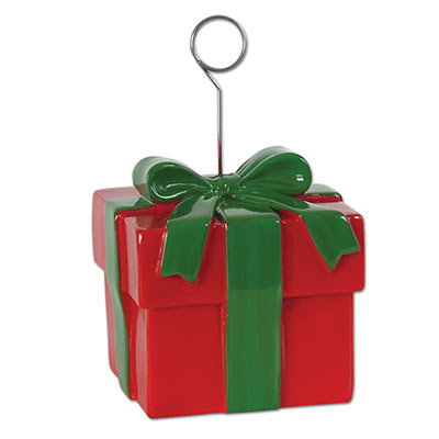 Christmas Gift Box PhotoBalloon Holder 6 Oz