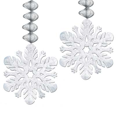 Foil Snowflake Danglers 30in